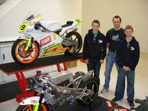 Our bikes at the SMR Performance Centre with Mick Shanley